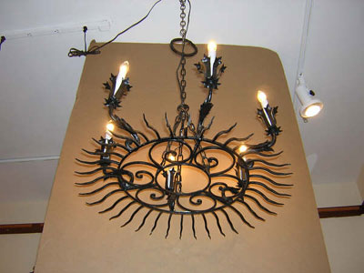 sunburst design chandelier