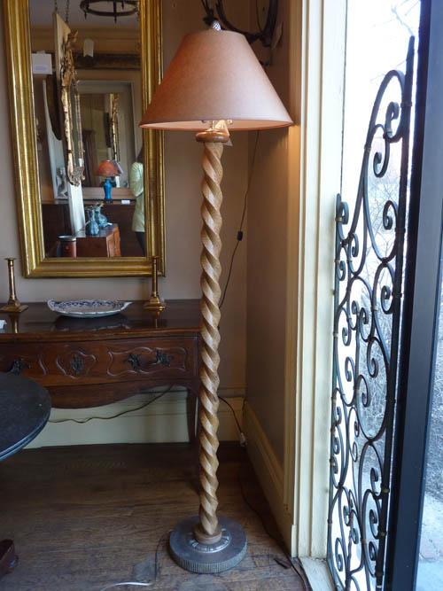 Barley twist floor lamp aloadofball Image collections