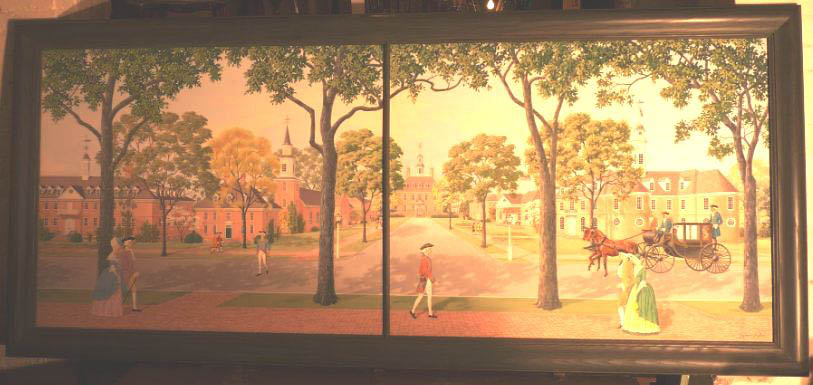 Williamsburg Painted Scene