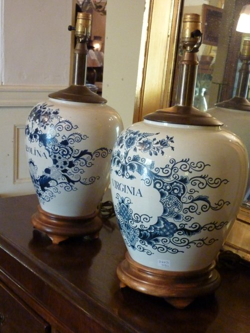 Delft Tobacco Jar Lamps