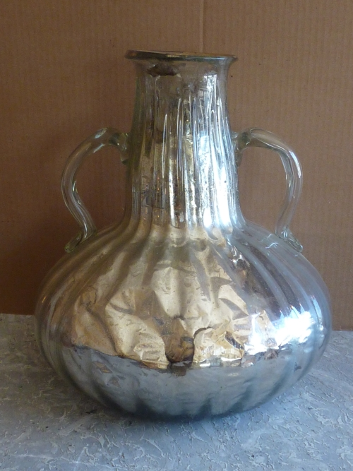 Antique Blown Glass Mercury Vase