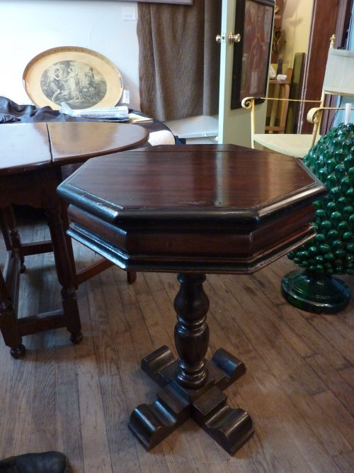 Antique Small Pedestal Table