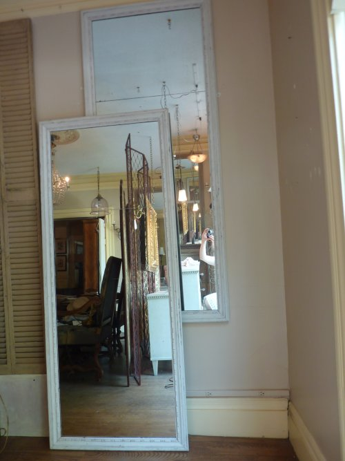 Pair of Whitewashed Mirrors