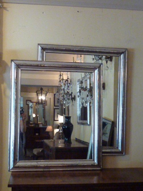 Pair of 19th Century Silverleaf Mirrors