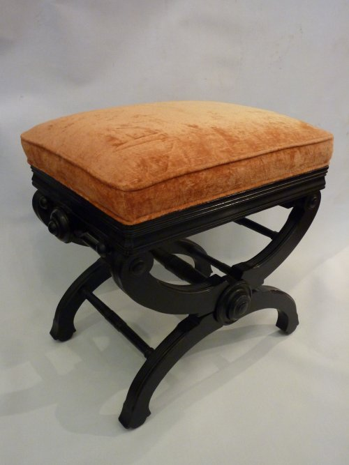 Aesthetic Movement Upholstered Bench