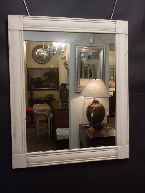 Empire Style Whitewashed Mirror