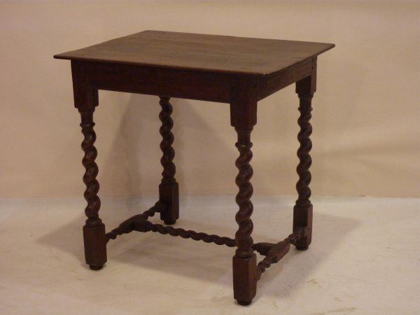 Antique English Barley Twist Table