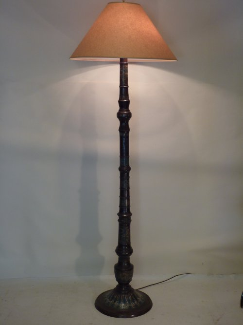 Chinese Cloisonne Bronze Floor Lamp