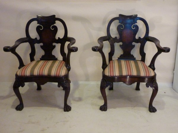 Pair of William of Kent Armchairs