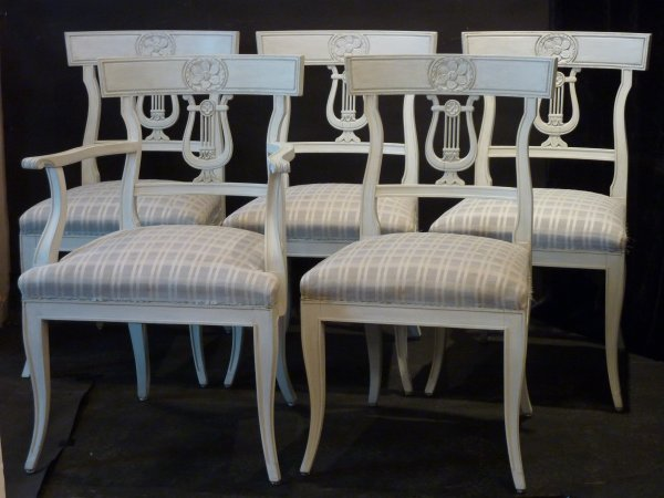 Gustavian Style Dining Chairs