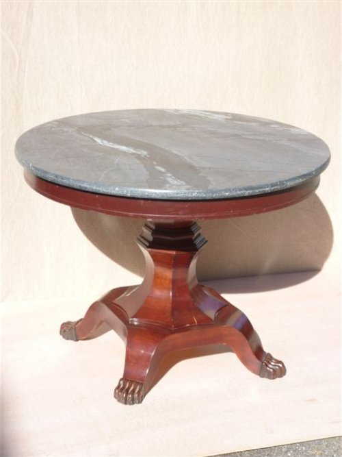Antique Marble Top Round Center Table