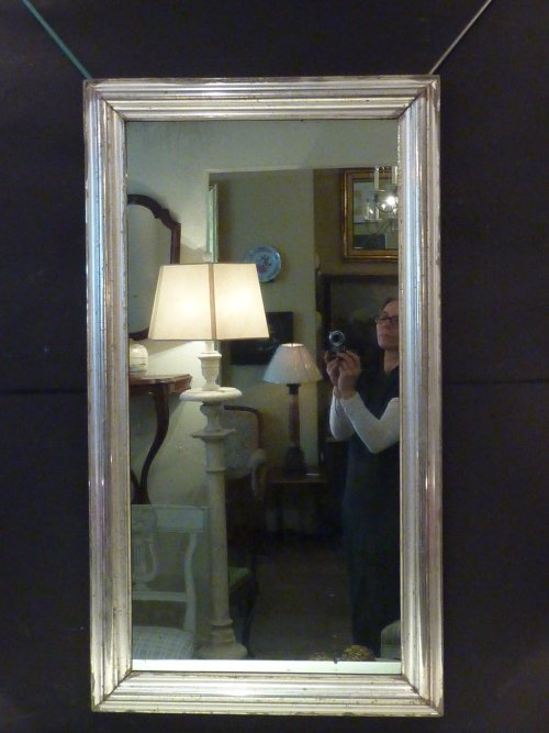Antique Rectangular Silverleaf Mirror