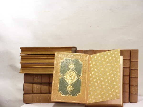 Set of Ltd. Edition Leather Bound Books