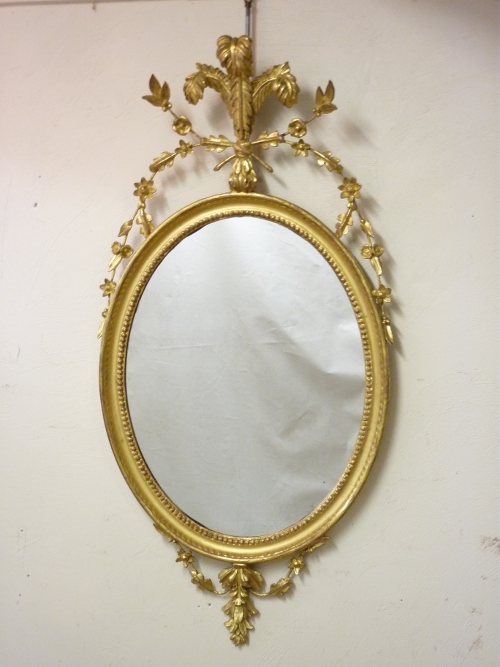Oval Mirror Prince Wales Crown