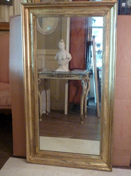 Large Scooped Cove Gilded Mirror