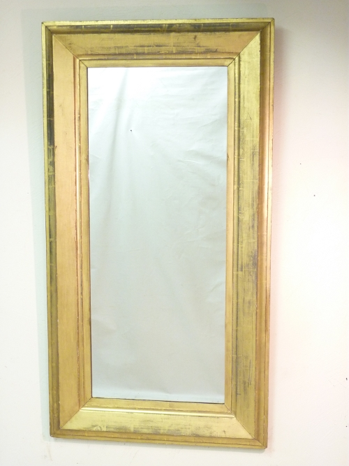Giltwood Mirror with Pewter Tones