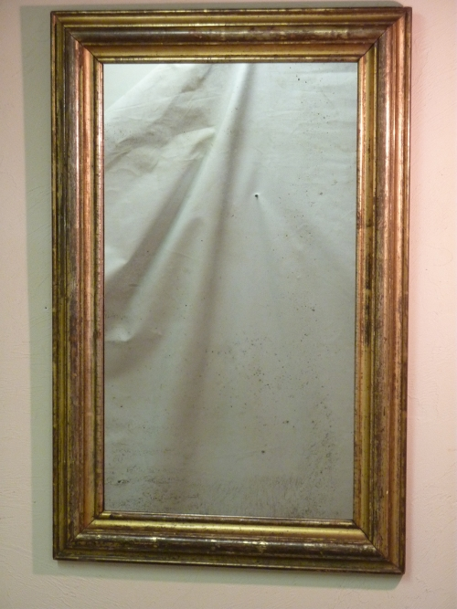 19th Century Silver Gold Mirror