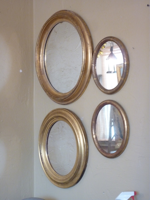 Small Oval Giltwood Mirrors