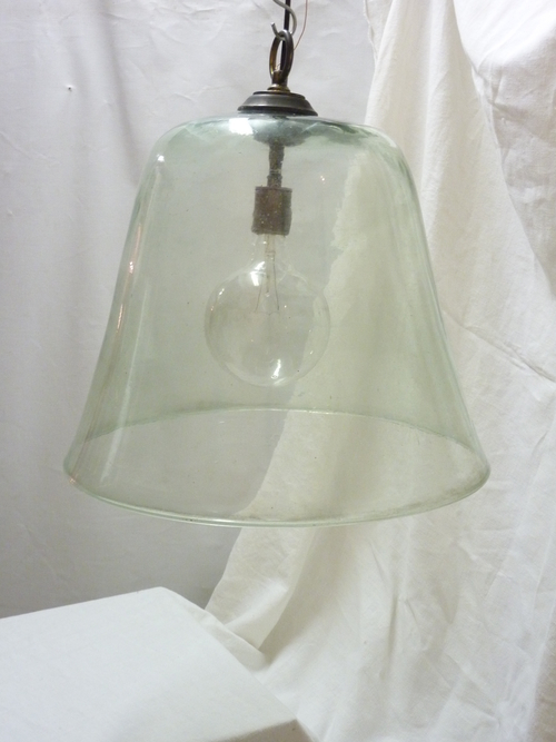 Two French Cloche Lights