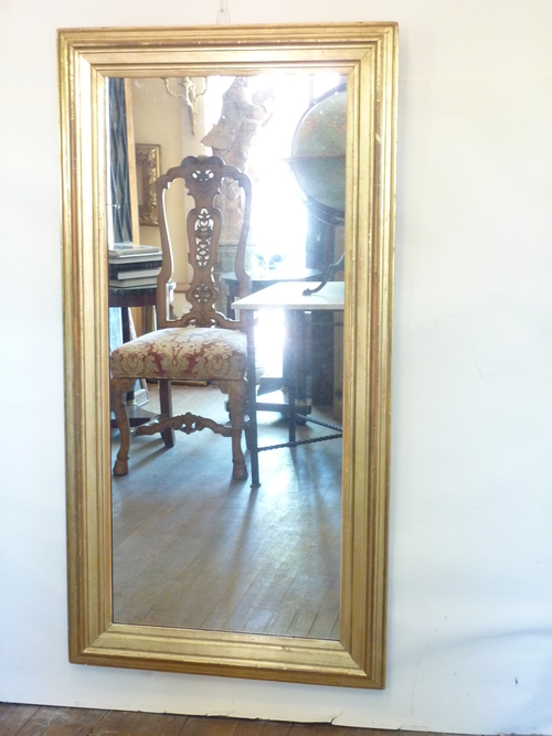 Simple Profile Gilded Mirror