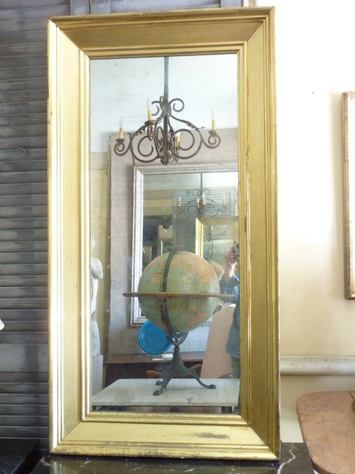Wide Molding Gilded Mirror