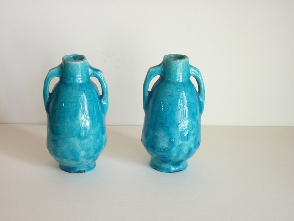 Pair Lachenal Mini Vases