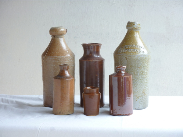 Collection 19th Century Stoneware Bottles