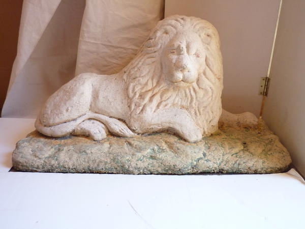 Reclining Lion Statue