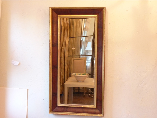 19th Century Mahogany Mirror