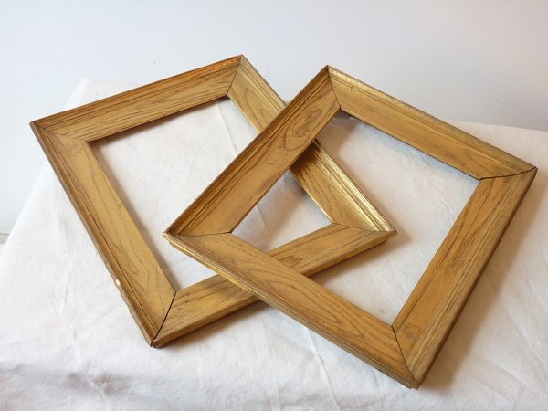 Pair Small Golden Chestnut Frames