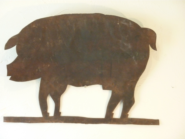 19th Century Pig Weather Vane