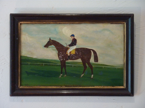 Folk Art Painting of Jockey