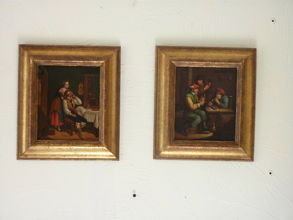 Small Pair 19th Century Paintings