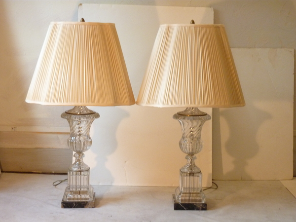 Pair of Baccarat Style Lamps