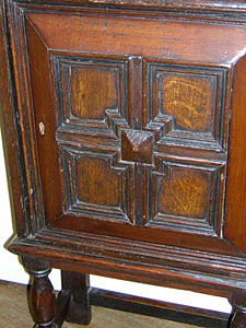 18th century continental diminutive oak cabinet :  oak cabinet antique continental