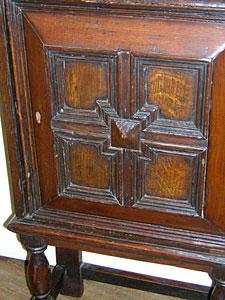 18th century continental diminutive oak cabinet