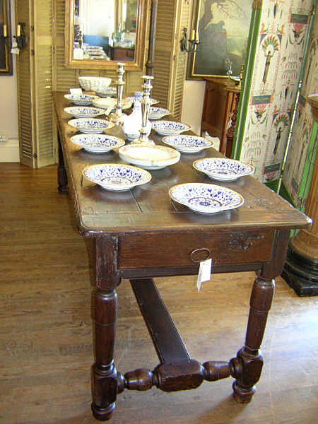 French Oak Table :  table french antique oak table