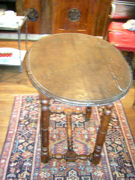 French Oak Oval Table :  oak table french antique