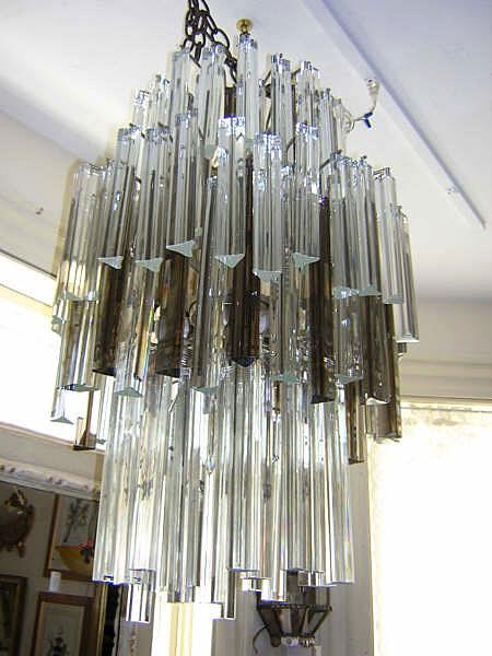 Glass and chrome chandelier venini glass and chrome chandelier aloadofball Choice Image