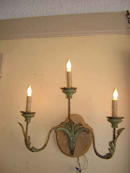 Pair of Antique Italian Iron Sconces