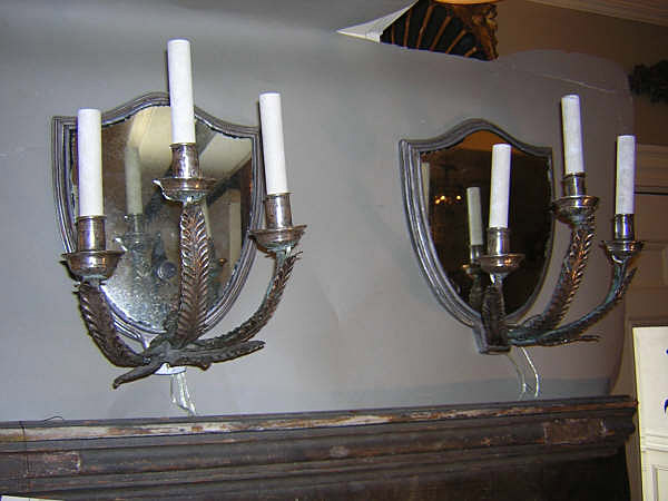 18th Century Italian Silvered Sconces