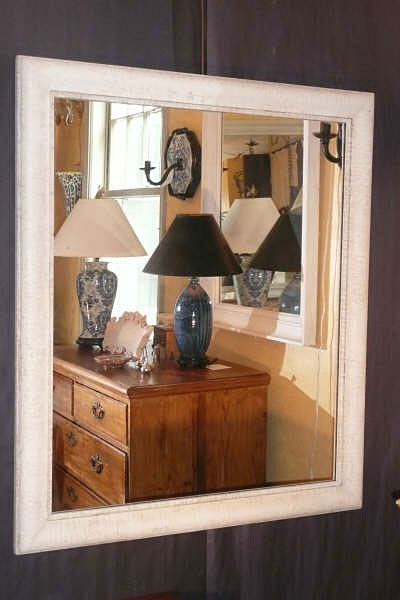 Faux Birch Bark Mirror