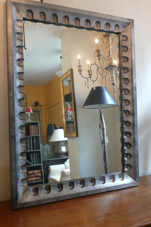 Industrial Design Fluted Mirror